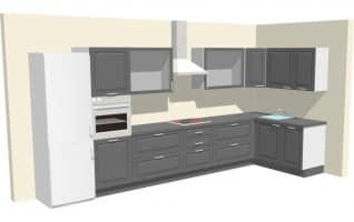 Кухня Кватро Графит — 210.000 руб.