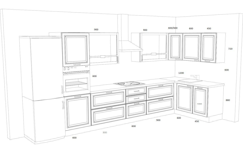 Кухня Кватро Графит со столешницей из искусственного камня - 210.000 руб.