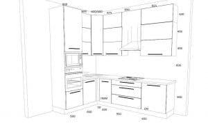 Кухня с фасадами ALVIC - 193.000 руб.