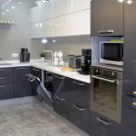 Кухня с фасадами SIDAK Acryl Антрацит