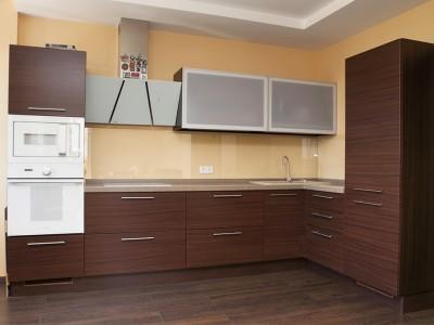 """Кухня с фасадами SIDAK Original пленка ПВХ """"Венге"""""""