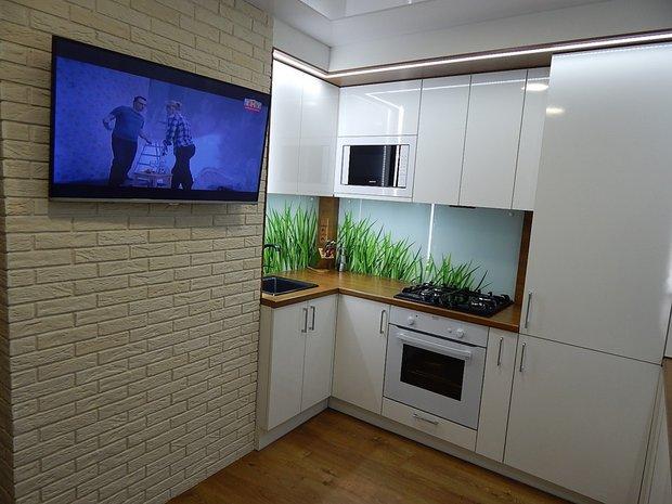 Кухня в стиле минимализм на 7.5 кв.м.