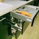 Кухня с фасадами SIDAK Acryl Черный/Оранж