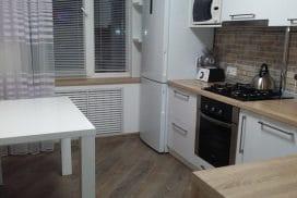 Кухня эмаль в скандинавском стиле на 11 кв.м