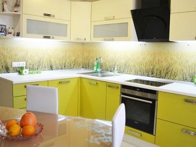 "Кухня с фасадами SIDAK Original пленка ПВХ ""Лайм"""