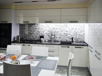 Кухня с фасадами SIDAK Acryl Белый