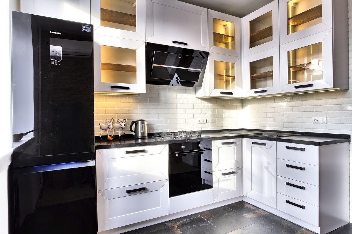 Кухня в скандинавском стиле (фасады - Пленка ПВХ)