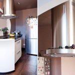 """Кухня с фасадами SIDAK Original пленка ПВХ """"Бежевый / Лиловый Бархат"""""""