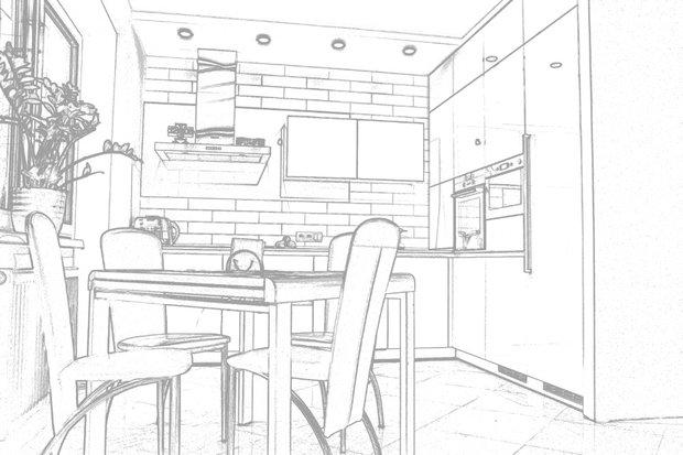 эскиз кухни