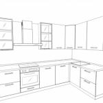 "Кухня с рамочным фасадом AGT ""Венге"""
