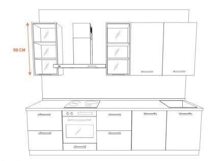 Белая кухня без ручек (открывание Tip-On)