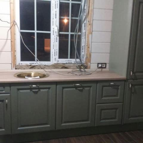 Кухня с крашенными фасадами в Рощино