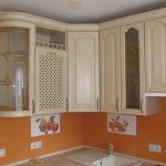 Кухня Светлана (массив ясеня, тонирование с искусственным старением)