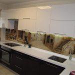 Кухня Acryl (Белый+Баклажан)