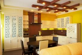 Кухня со сборными фасадами под покраску