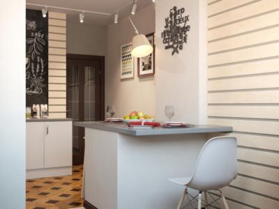 Изюминка в дизайне кухни - барная стойка на балконе