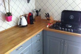 Ретро кухня в сером цвете