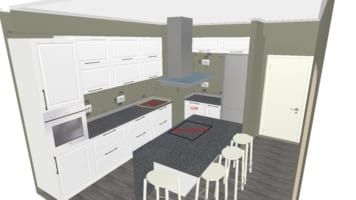Кухня с пленочными фасадами — 182.000 руб.