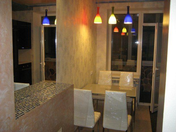 светильники в кухне