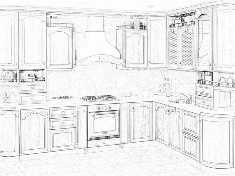 """Кухня с крашенными фасадами """"Капучино матовый"""""""