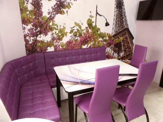Фиолетовая кухня в стиле Модерн