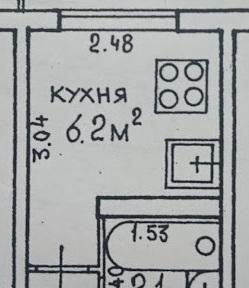"""Кухня с фасадами ДСП Egger """"Вудлайн Крем"""" на 6 кв.м."""
