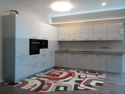 Кухня MDF Эмаль RAL 7035 (Серый гранит)