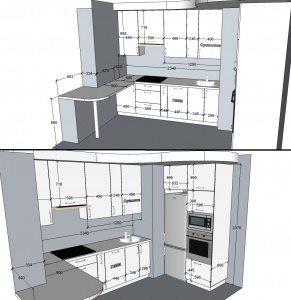 Кухня с фасадами Капучино - 163.000 руб.