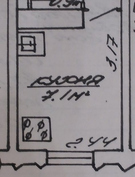 Серо-белая кухня + скинали на 7 кв.м.