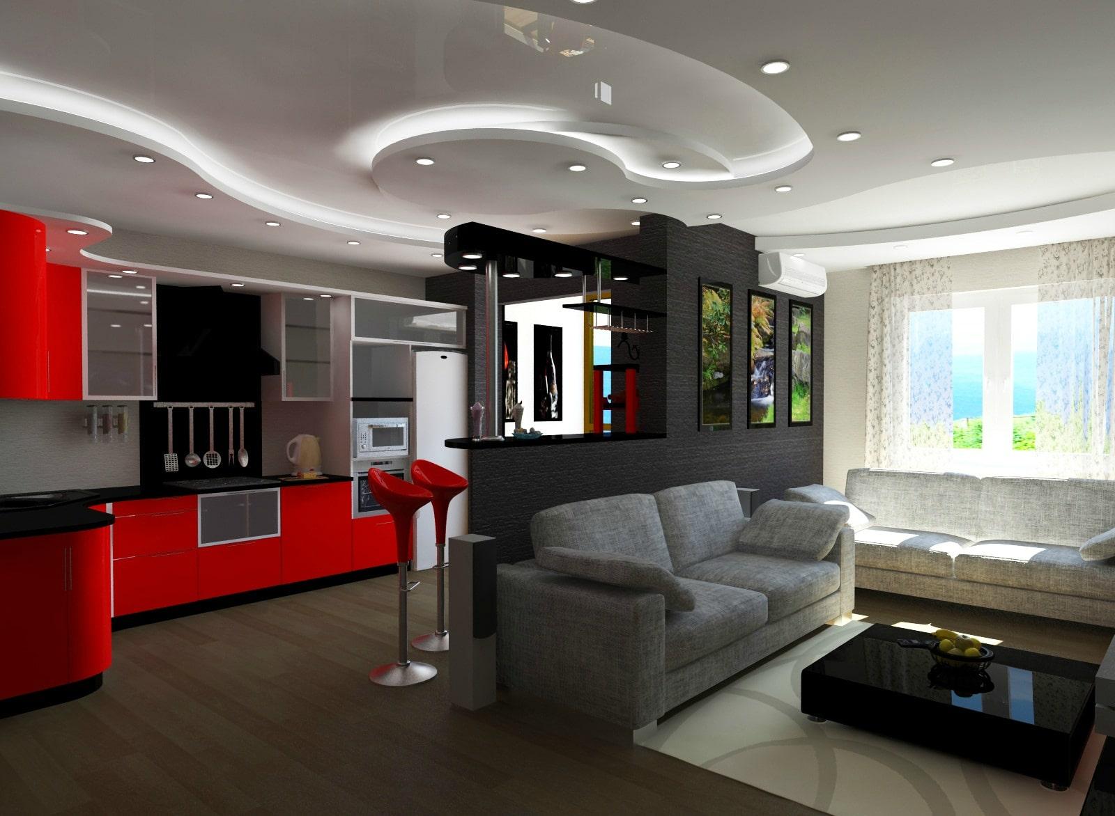 Особенности оформления кухни в квартире студии
