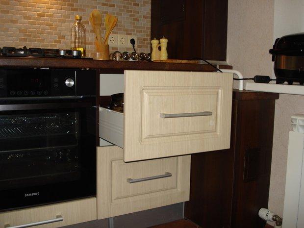Бежевая кухня МДФ на 9.5 кв.м.