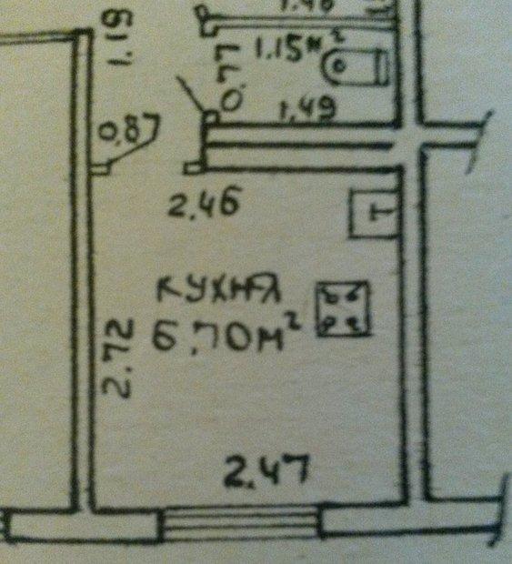 Бежевая классическая кухня на 7 кв.м.