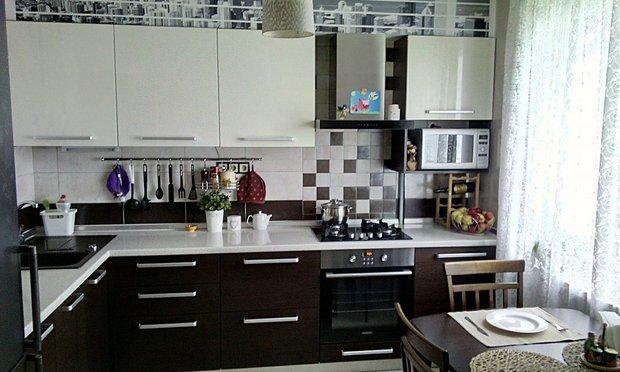 кухня венге и молочный цвет