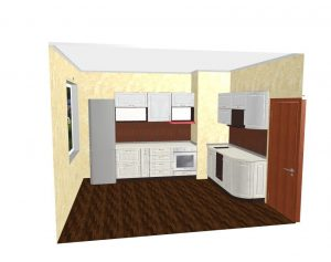 Кухня 2,3*1,8 с фасадами МДФ - 192.000 руб.