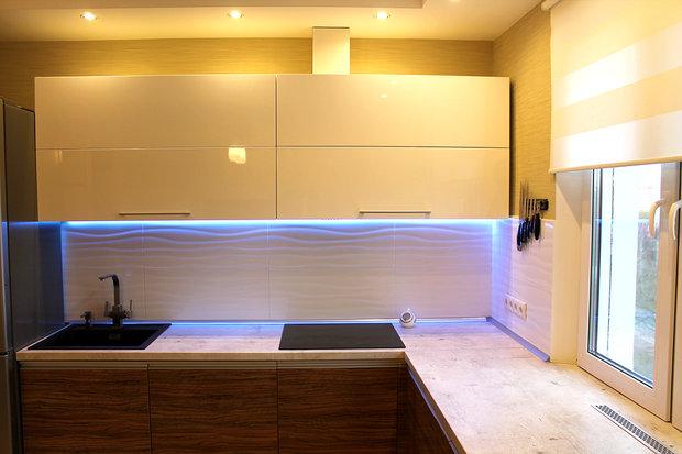 подсветка рабочей зоны в кухне