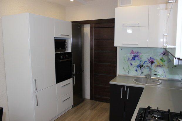 раздвижная дверь в кухне