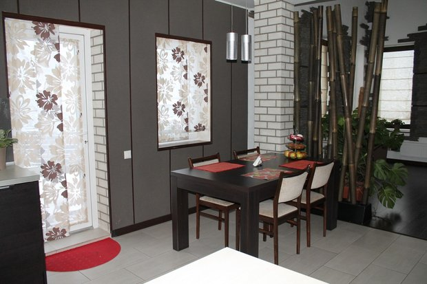 Кухонный интерьер в японском стиле