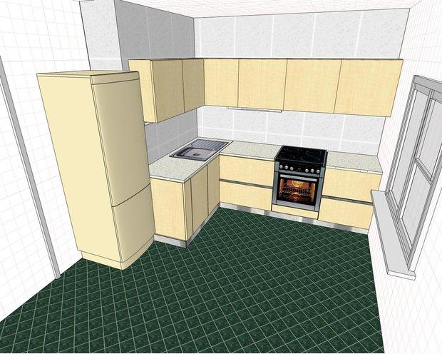 Кухня с интегрированными ручками