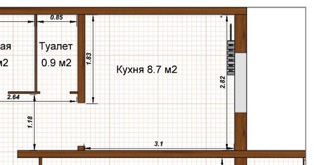 """Кухня """"в ромашку"""" с фасадами из ДСП"""