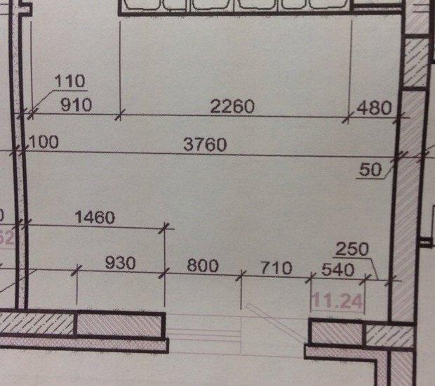 Светлая кухня по прямой на 12 кв.м.